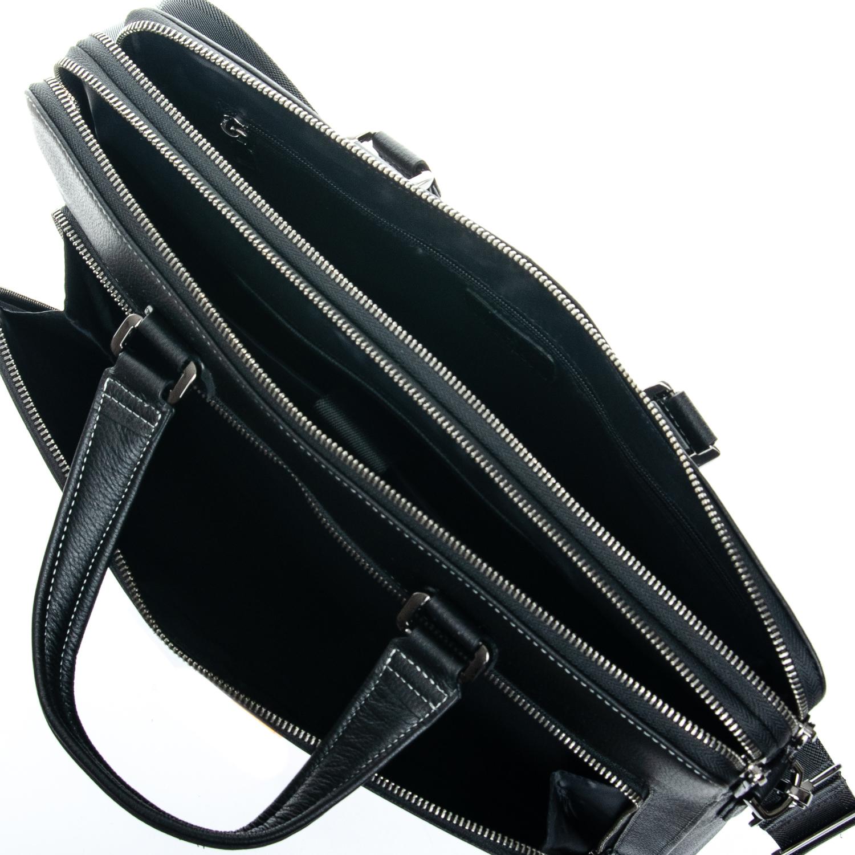 Сумка Мужская Портфель кожаный BRETTON 3627-1 black - фото 5