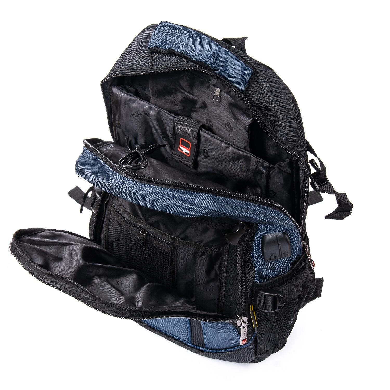 Рюкзак Городской нейлон Power In Eavas 9688 black-blue - фото 5