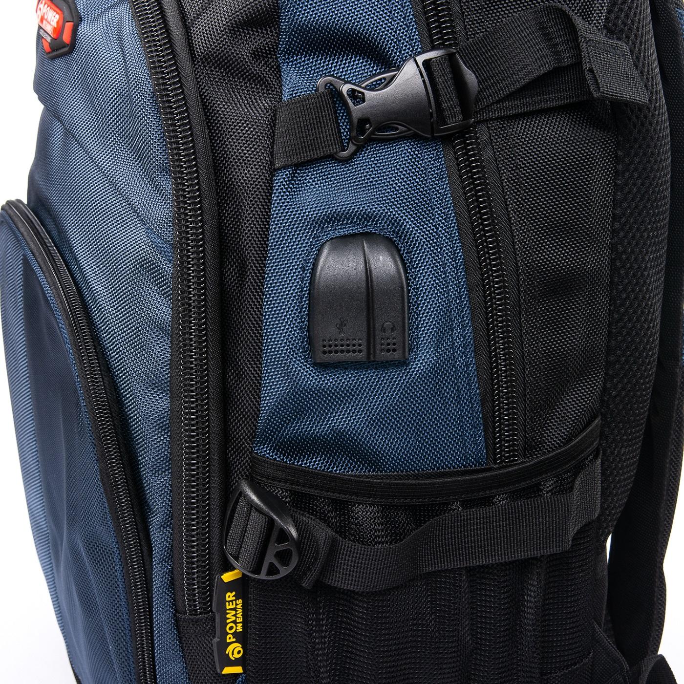 Рюкзак Городской нейлон Power In Eavas 9628 black-blue - фото 3