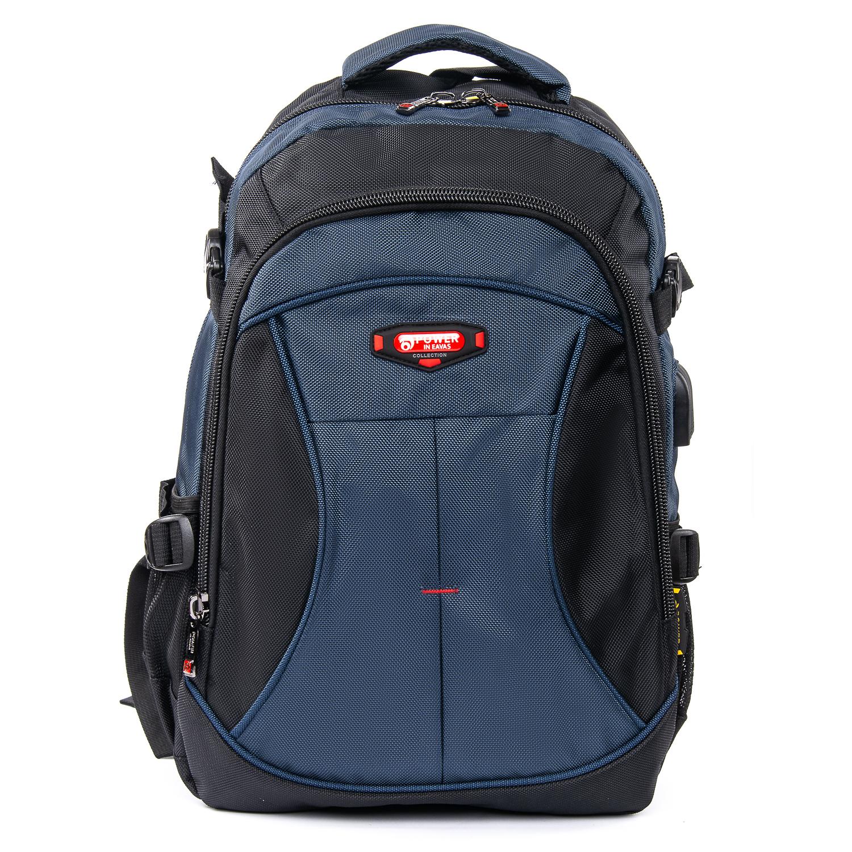 Рюкзак Городской нейлон Power In Eavas 9636 black-blue