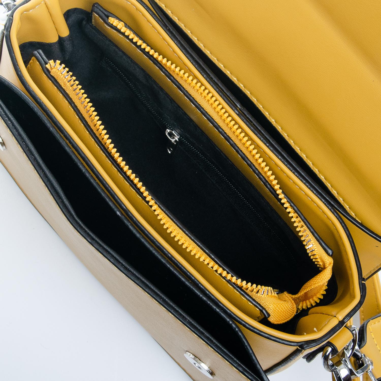 Сумка Женская Клатч иск-кожа 1-01 9821 yellow - фото 5