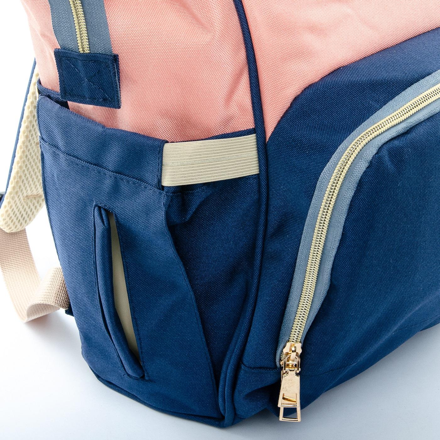 Сумка Женская Рюкзак нейлон Lanpad D900 blue rose - фото 5