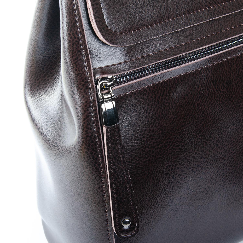 Сумка Женская Рюкзак кожа ALEX RAI 1-05 1005 brown - фото 3