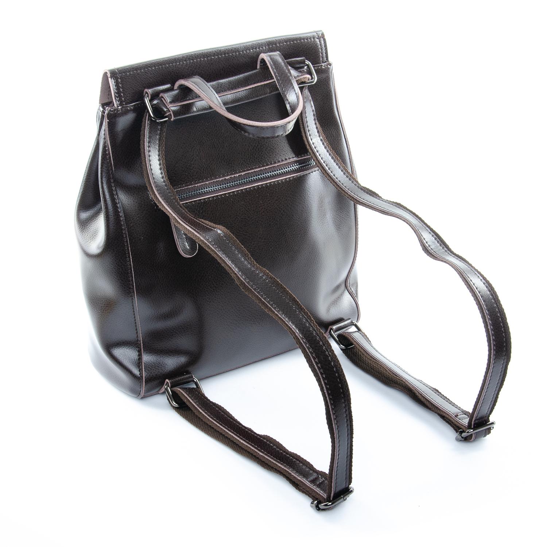 Сумка Женская Рюкзак кожа ALEX RAI 1-05 1005 brown - фото 4