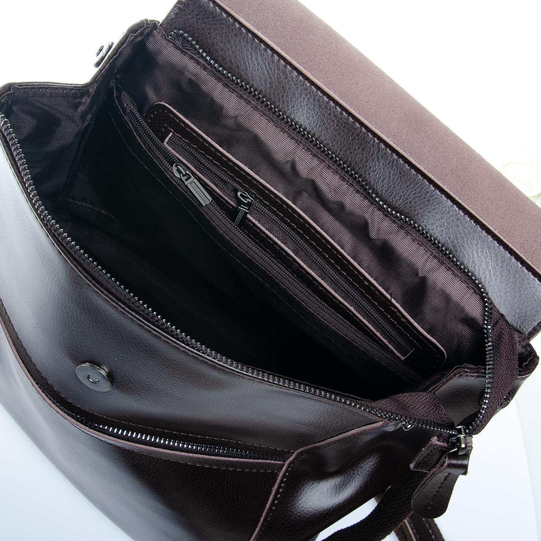 Сумка Женская Рюкзак кожа ALEX RAI 1-05 1005 brown - фото 5