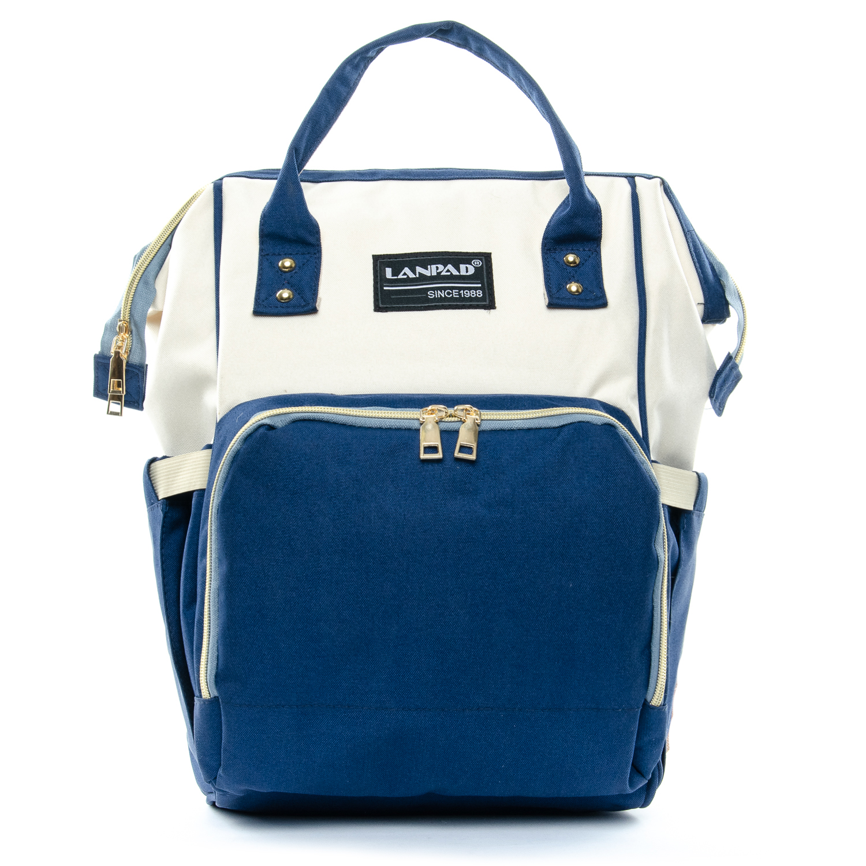Сумка Женская Рюкзак нейлон Lanpad D900 blue white