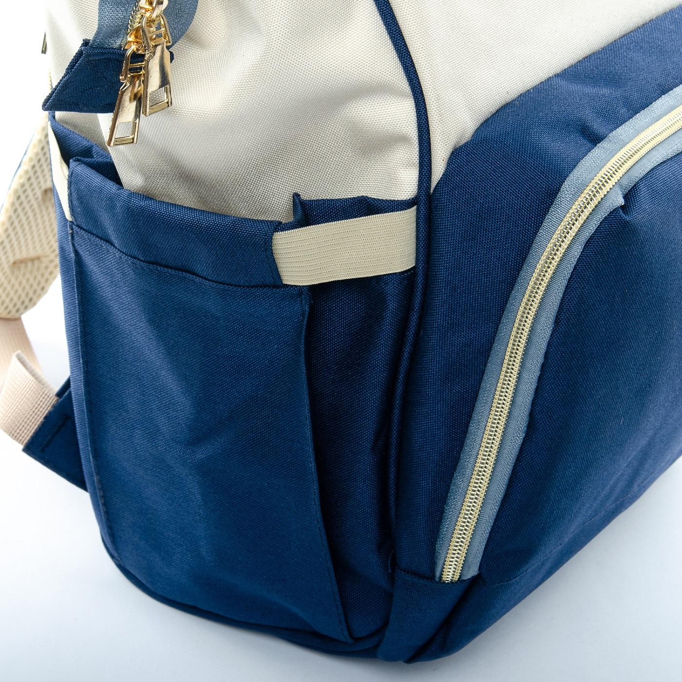 Сумка Женская Рюкзак нейлон Lanpad D900 blue white - фото 5