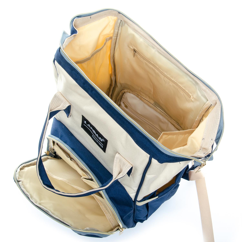 Сумка Женская Рюкзак нейлон Lanpad D900 blue white - фото 4