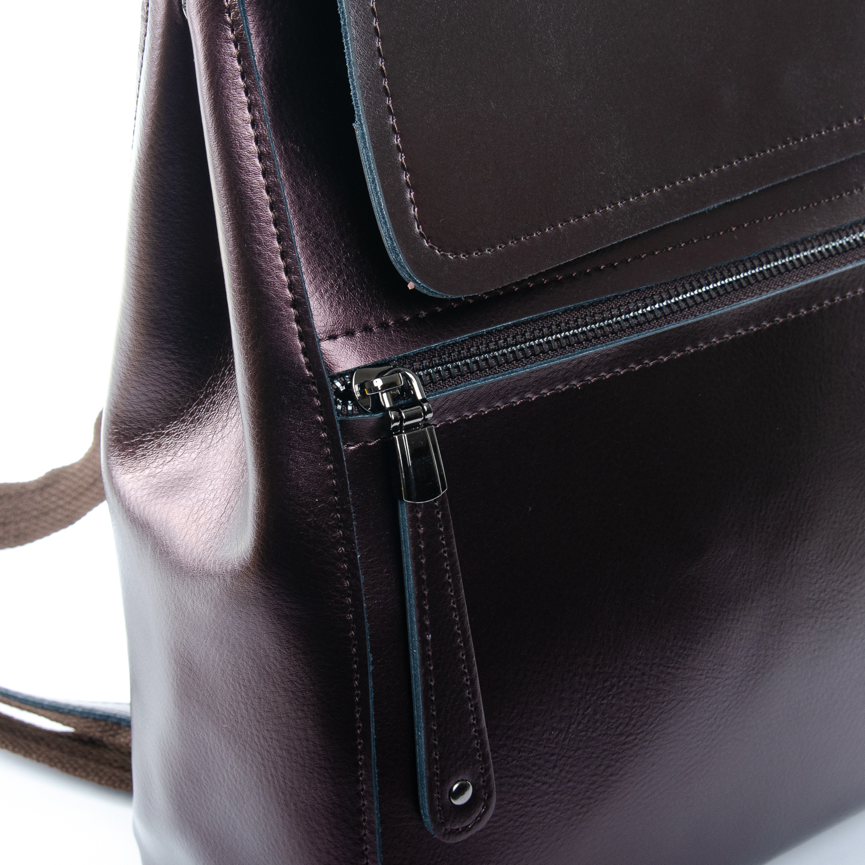 Сумка Женская Рюкзак кожа ALEX RAI 1-05 1005 bright-brown - фото 3