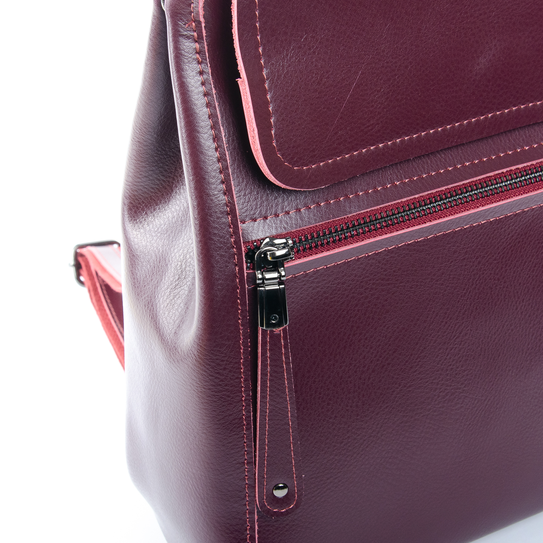 Сумка Женская Рюкзак кожа ALEX RAI 1-05 1005 wine-red - фото 3