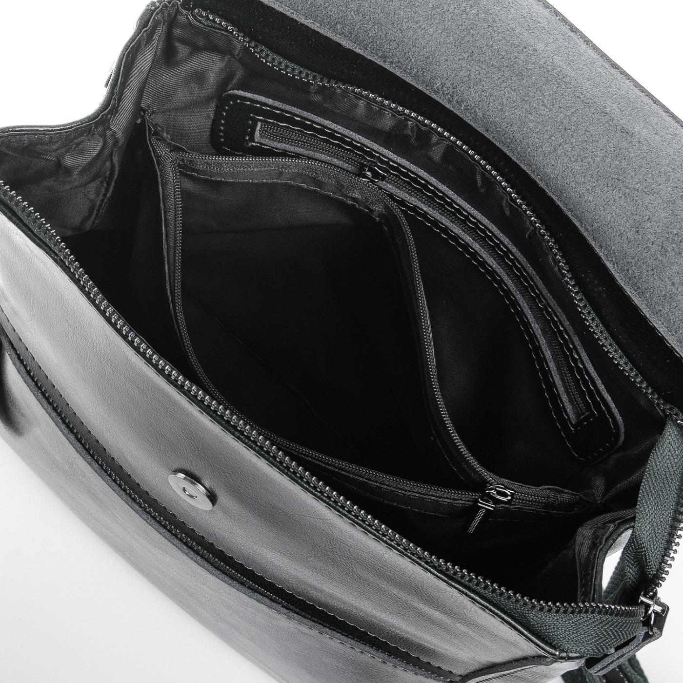 Сумка Женская Рюкзак кожа ALEX RAI 1-05 1005 black - фото 5
