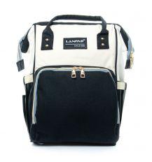 Сумка Женская Рюкзак нейлон Lanpad D900 black white