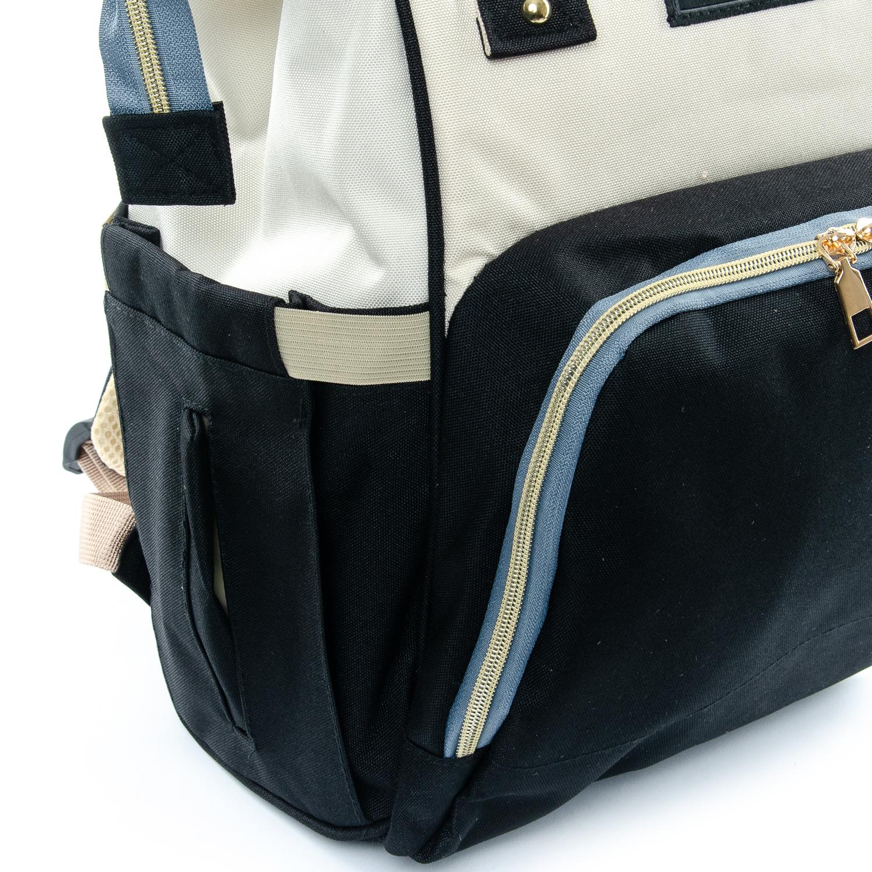 Сумка Женская Рюкзак нейлон Lanpad D900 black white - фото 3