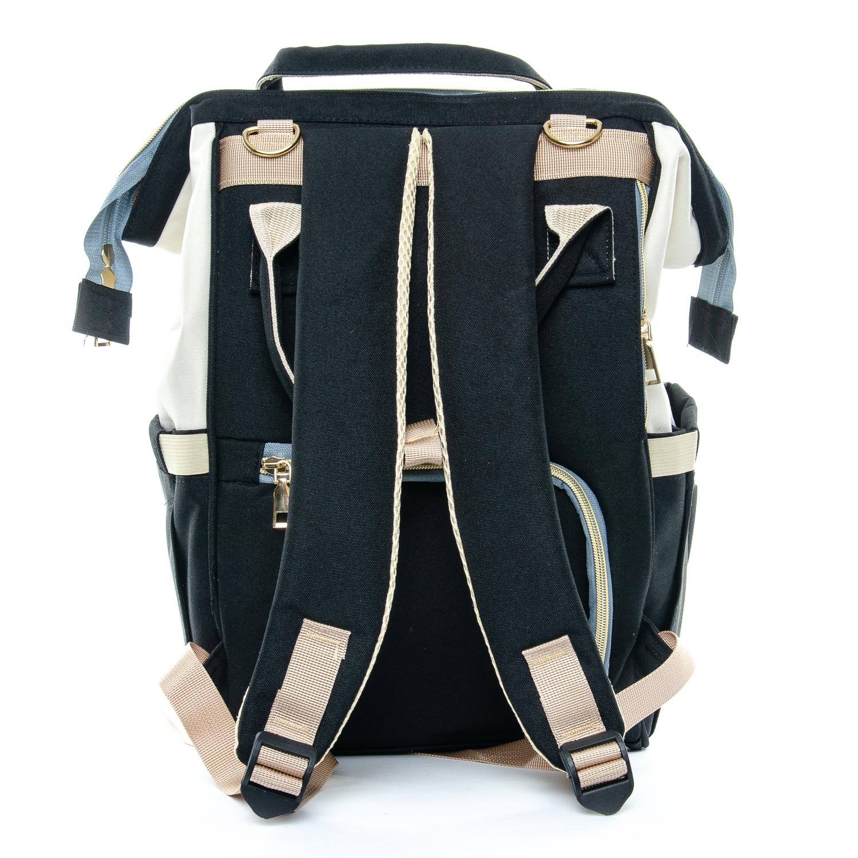 Сумка Женская Рюкзак нейлон Lanpad D900 black white - фото 4