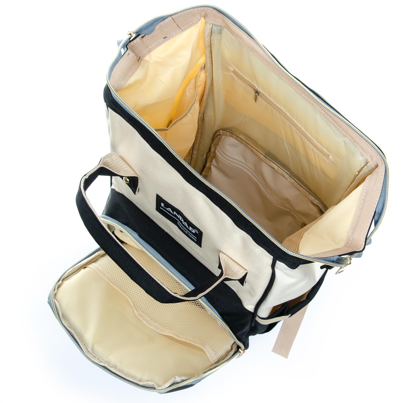 Сумка Женская Рюкзак нейлон Lanpad D900 black white - фото 5