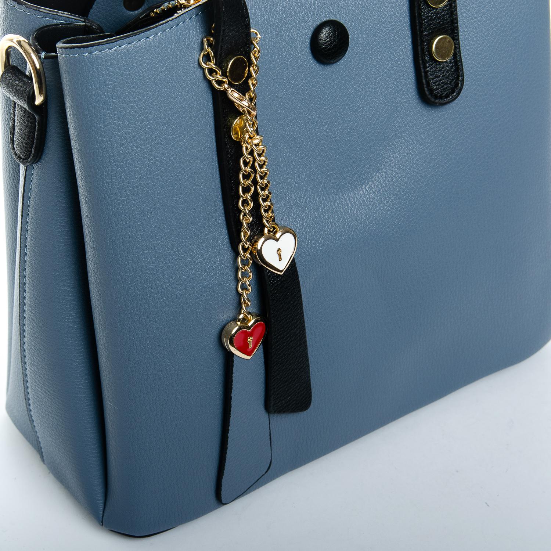 Сумка Женская иск-кожа 1-01 965-1 blue - фото 3