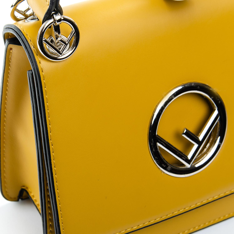 Сумка Женская иск-кожа 1-01 6686 yellow - фото 3