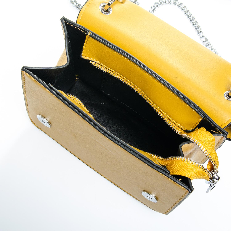 Сумка Женская иск-кожа 1-01 6686 yellow - фото 5