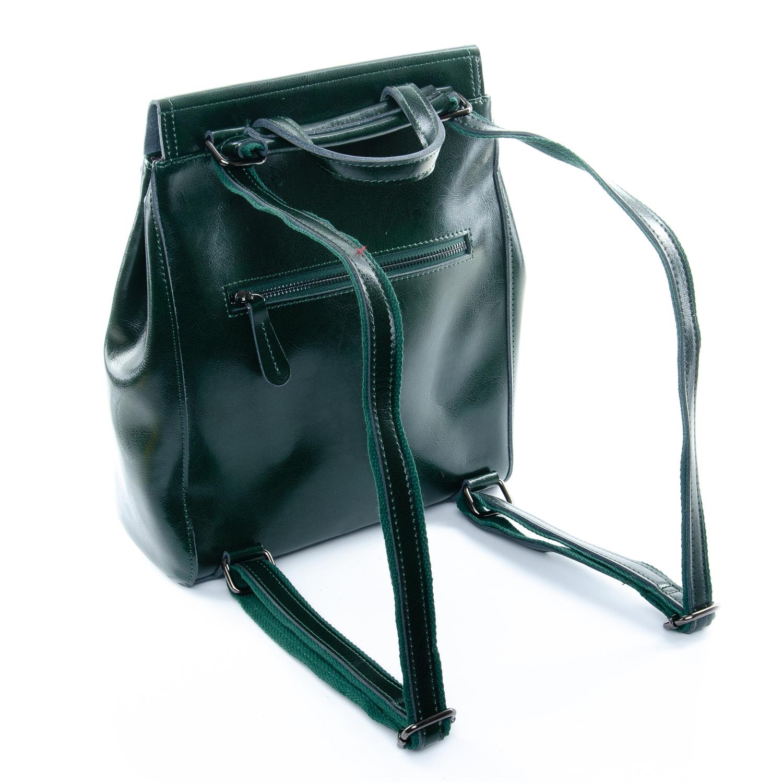 Сумка Женская Рюкзак кожа ALEX RAI 1-05 1005 green - фото 3