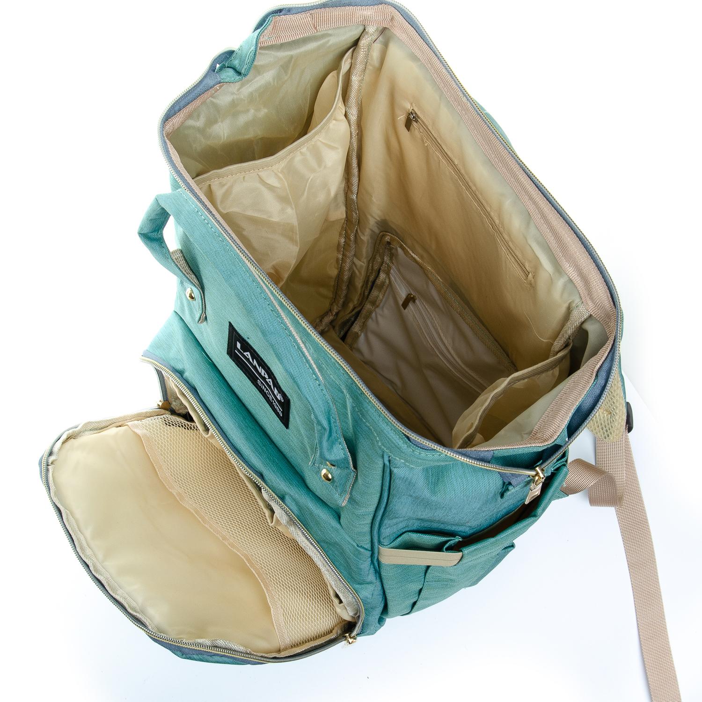 Сумка Женская Рюкзак нейлон Lanpad D900 green - фото 4