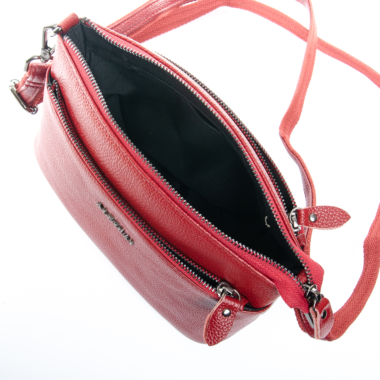 Сумка Женская Клатч кожа ALEX RAI 1-02 2907-2 bordo - фото 5