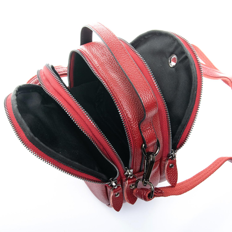 Сумка Женская Клатч кожа ALEX RAI 1-02 3902-2 bordo - фото 4