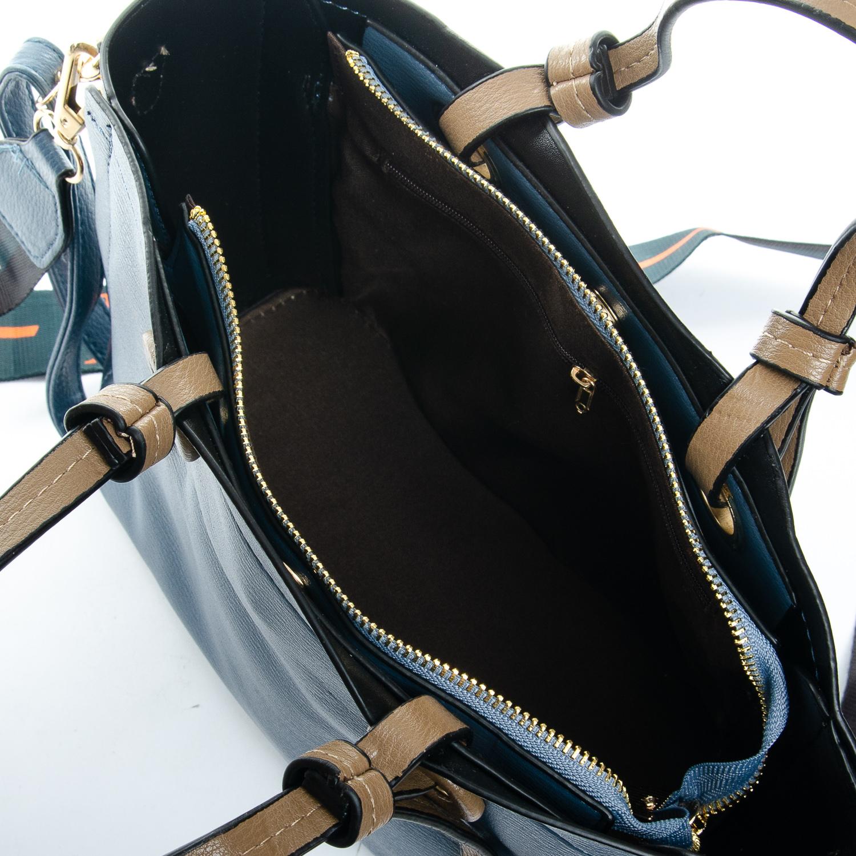 Сумка Женская Классическая иск-кожа FASHION 1-03 17841 blue - фото 5