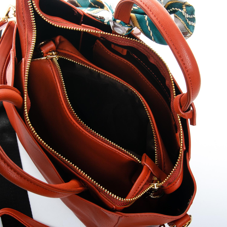 Сумка Женская Классическая иск-кожа FASHION 1-03 7008 orange - фото 5