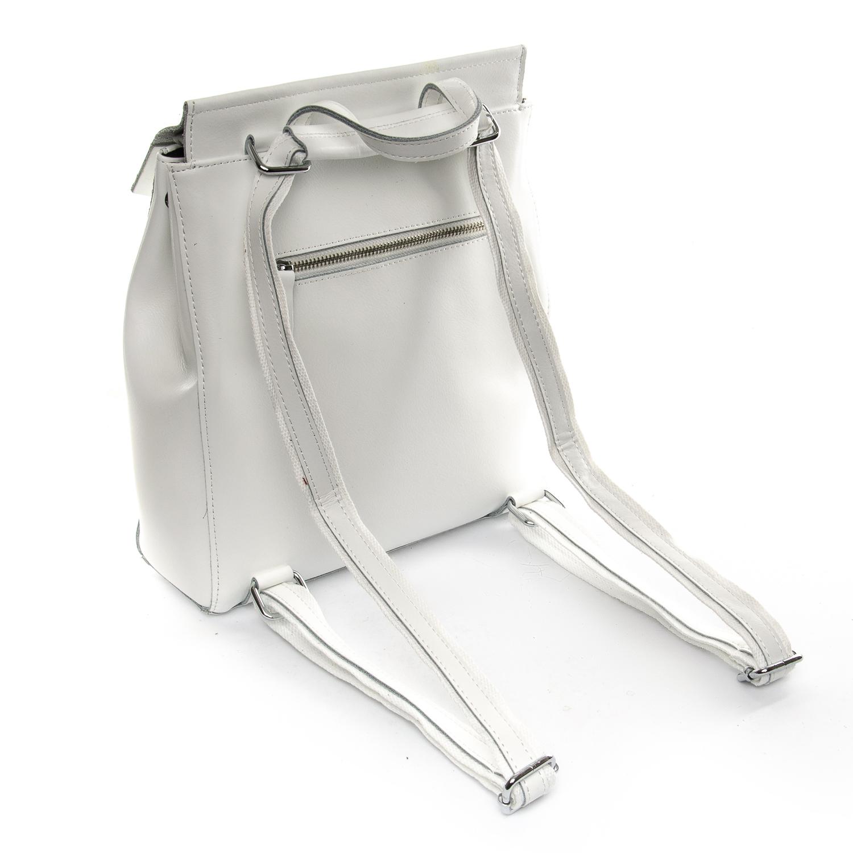 Сумка Женская Рюкзак кожа ALEX RAI 1-06 3206 white - фото 4