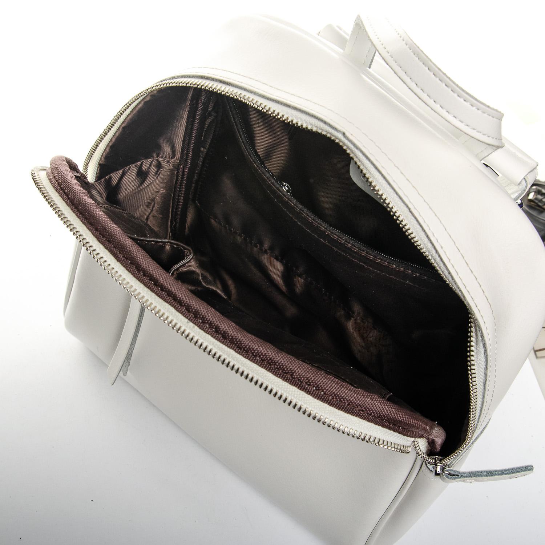 Сумка Женская Рюкзак кожа ALEX RAI 1-06 8649-2 white - фото 5