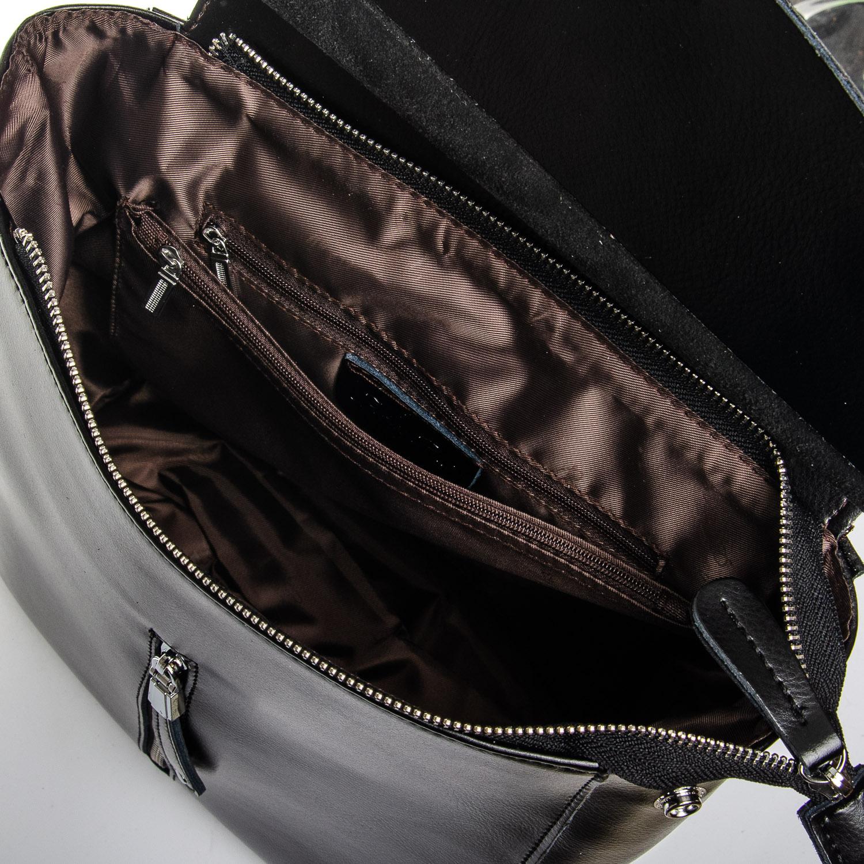 Сумка Женская Рюкзак кожа ALEX RAI 1-06 3206 black - фото 5