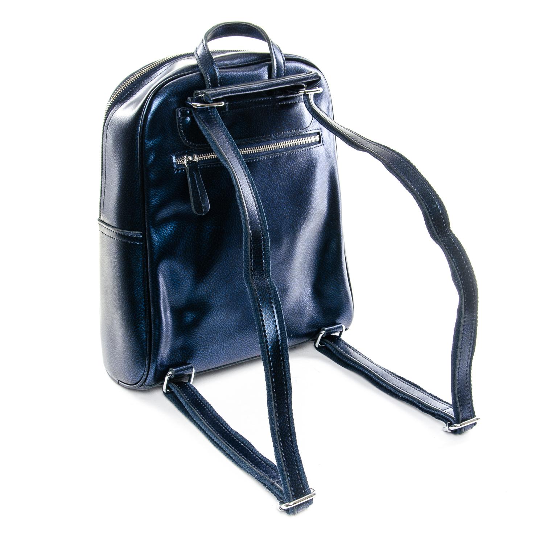 Сумка Женская Рюкзак кожа ALEX RAI 1-06 8649-2 blue - фото 4