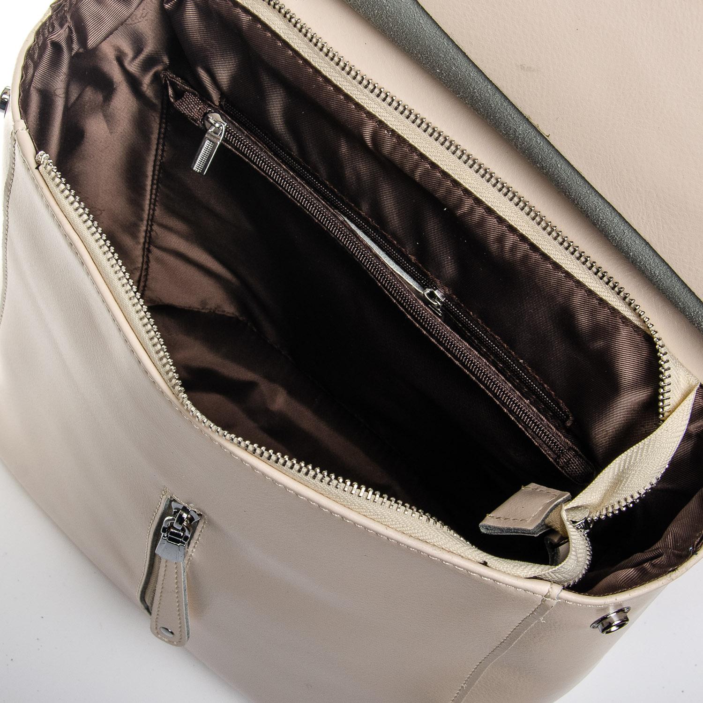 Сумка Женская Рюкзак кожа ALEX RAI 1-06 3206 beige - фото 5