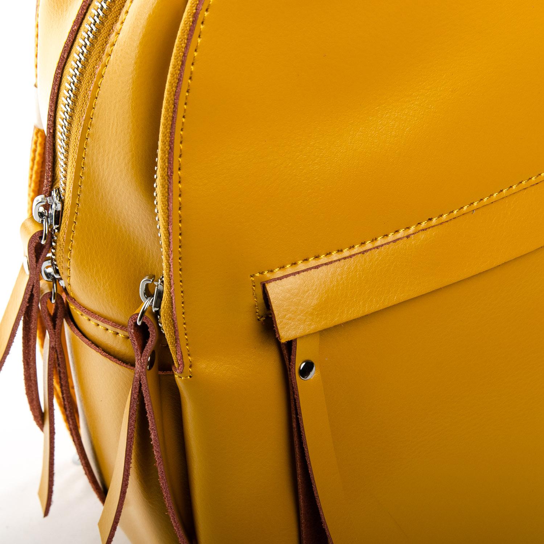 Сумка Женская Рюкзак кожа ALEX RAI 1-06 337 yellow - фото 3