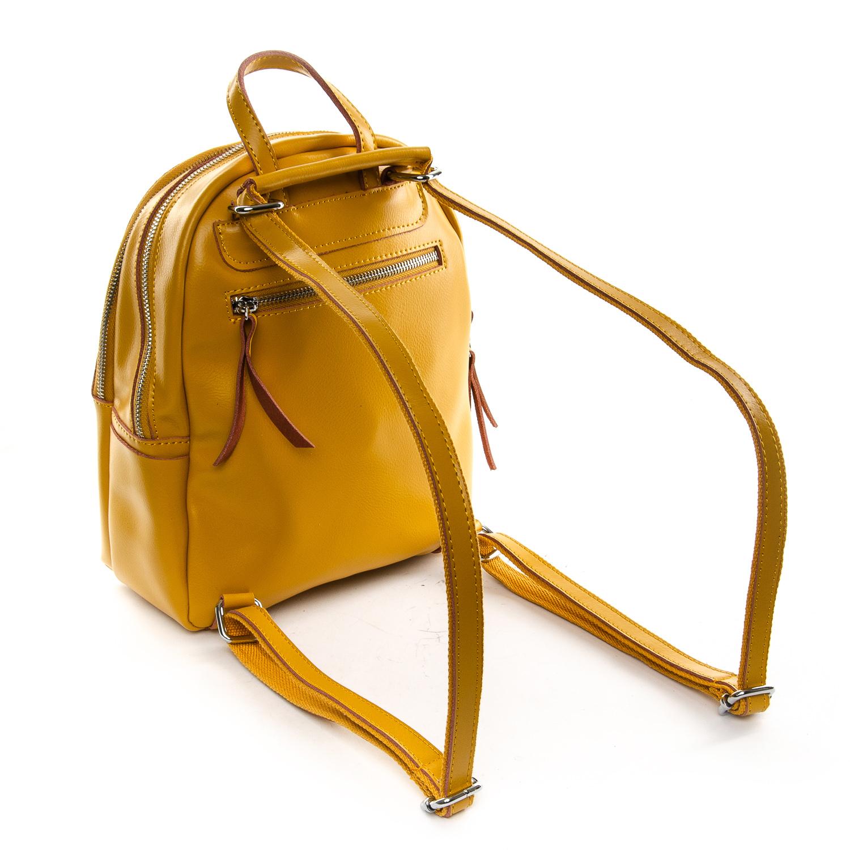 Сумка Женская Рюкзак кожа ALEX RAI 1-06 337 yellow - фото 4