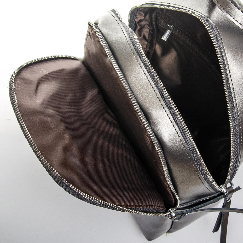 Сумка Женская Рюкзак кожа ALEX RAI 1-06 337 light-grey - фото 5