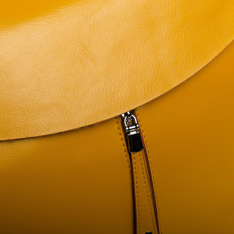 Сумка Женская Рюкзак кожа ALEX RAI 1-06 3206 yellow - фото 3