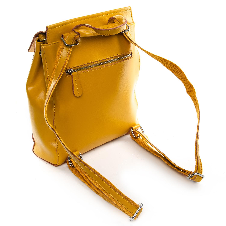 Сумка Женская Рюкзак кожа ALEX RAI 1-06 3206 yellow - фото 4