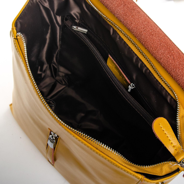 Сумка Женская Рюкзак кожа ALEX RAI 1-06 3206 yellow - фото 5