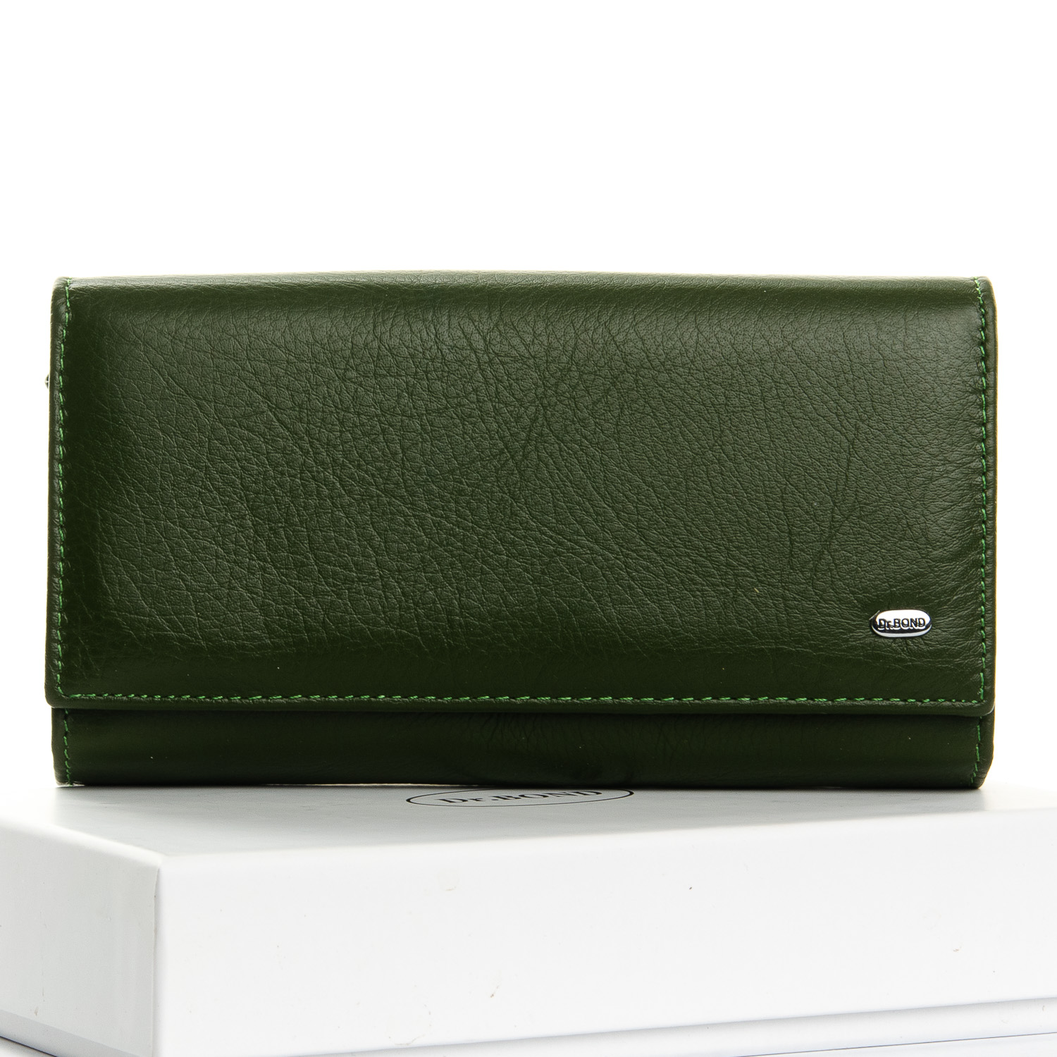 Кошелек Classic кожа DR. BOND W46 dark-green