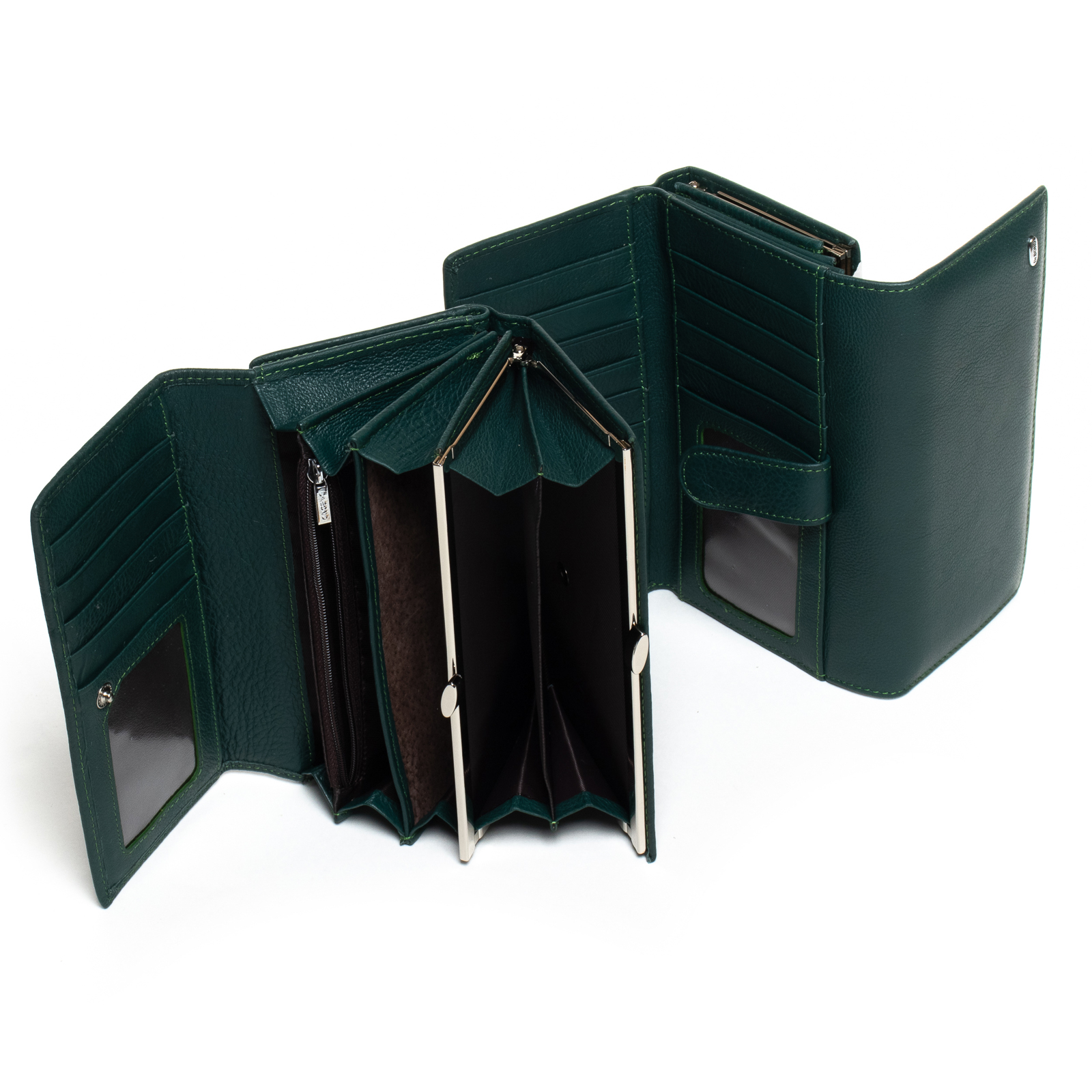 Кошелек Classic кожа DR. BOND W46 dark-green - фото 4