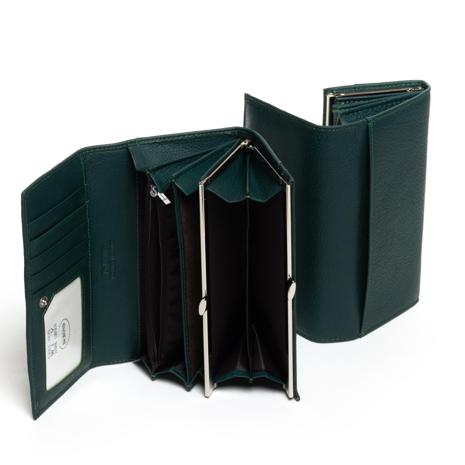 Кошелек Classic кожа DR. BOND W1-V dark-green - фото 4