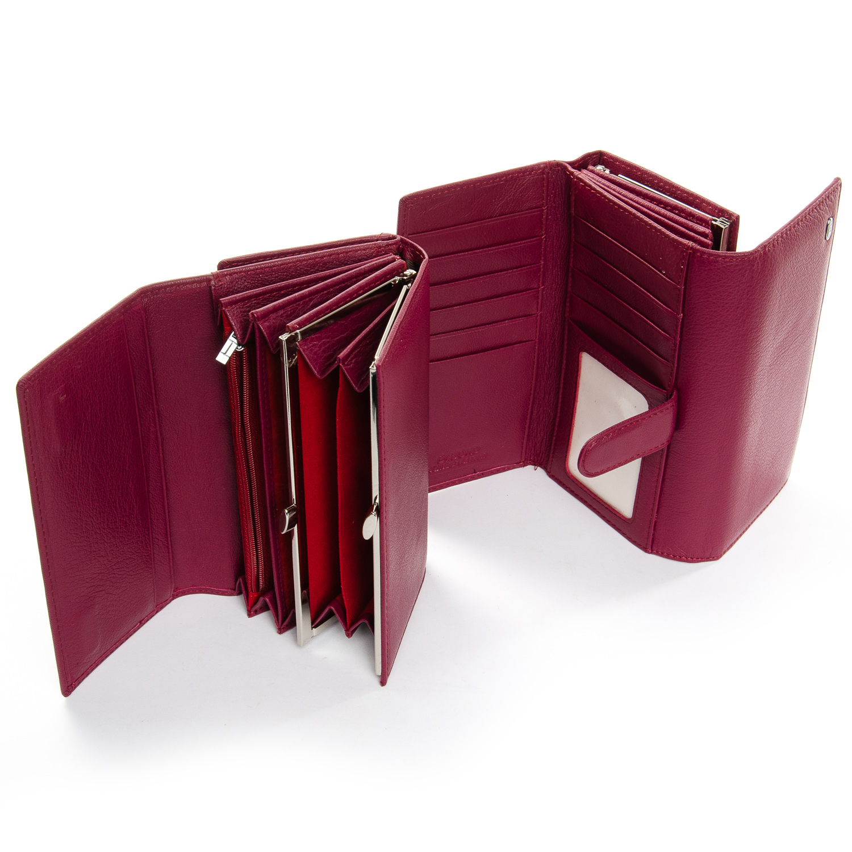 Кошелек Classic кожа DR. BOND W46-2 purple-red - фото 4