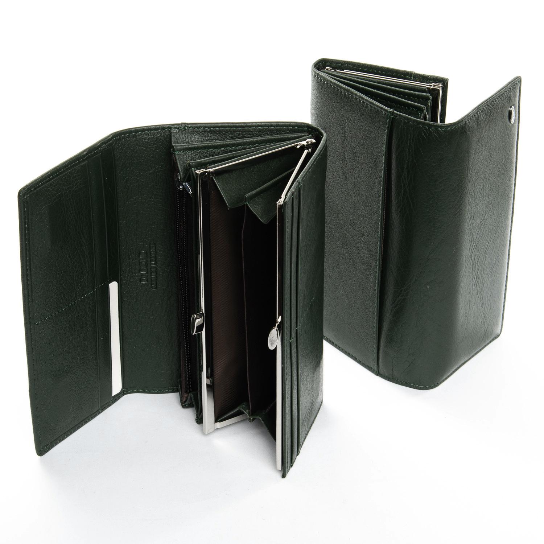 Кошелек Classic кожа DR. BOND W1-V-2 dark-green - фото 4