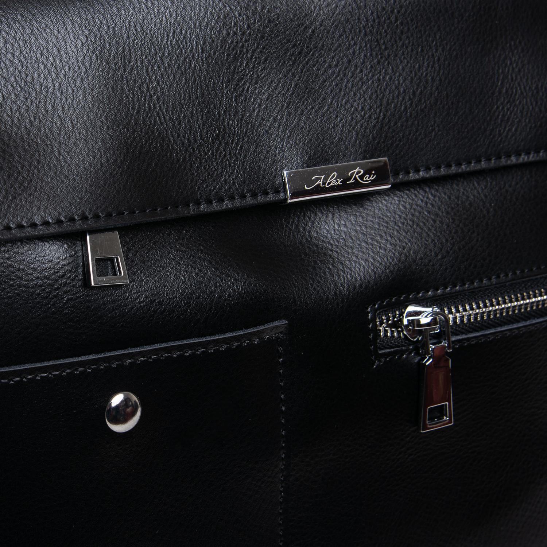 Сумка Женская Классическая кожа ALEX RAI 2-02 8764 black - фото 3