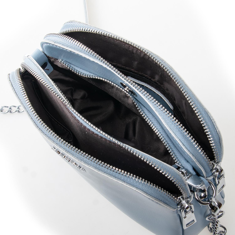 Сумка Женская Клатч кожа ALEX RAI 2-01 8701 light-blue - фото 5