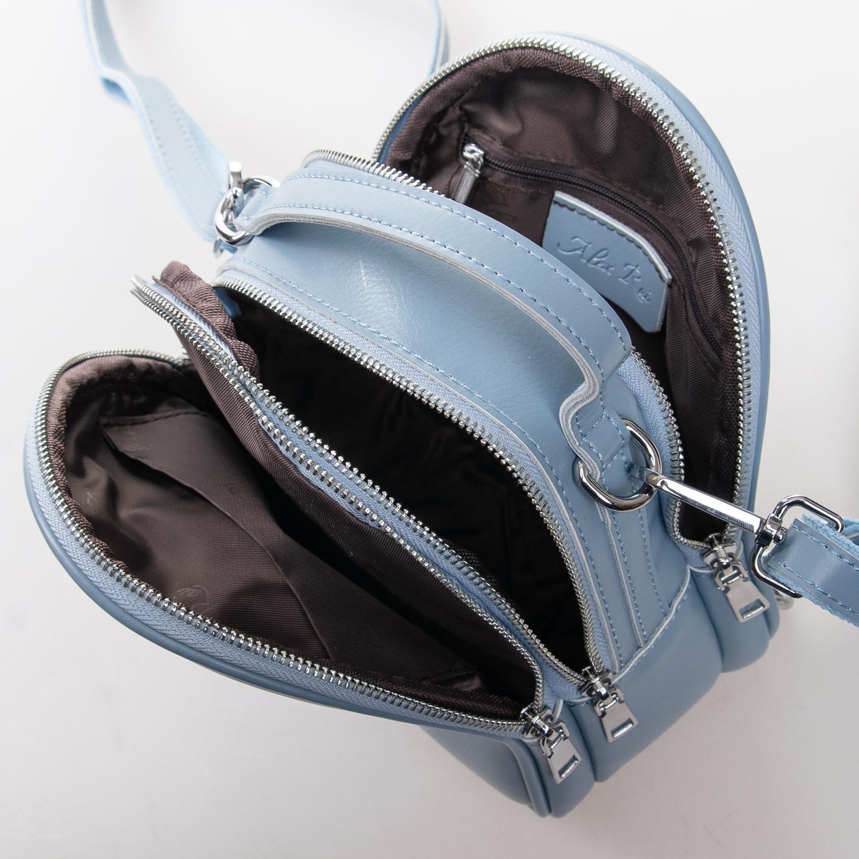 Сумка Женская Клатч кожа ALEX RAI 2-01 2228 light-blue - фото 5