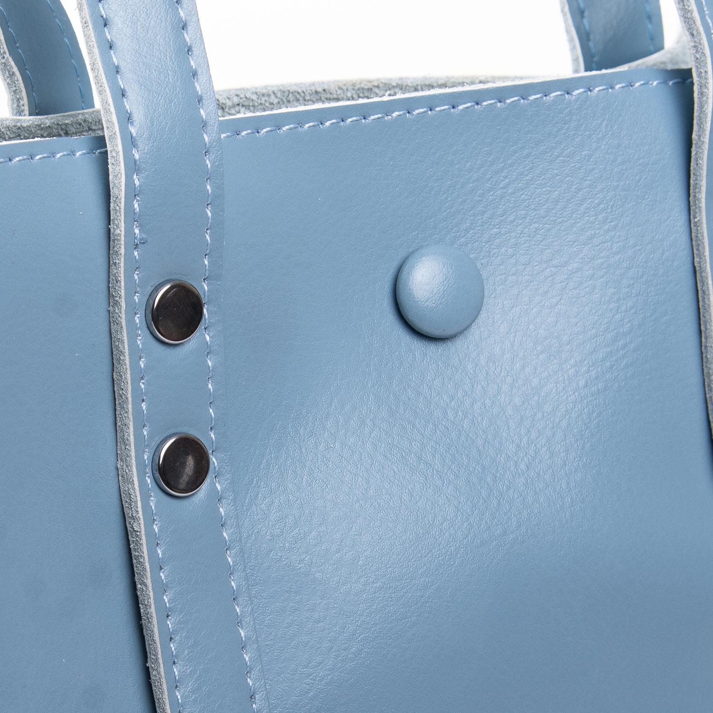 Сумка Женская Классическая кожа ALEX RAI 2-02 349 light-blue - фото 3