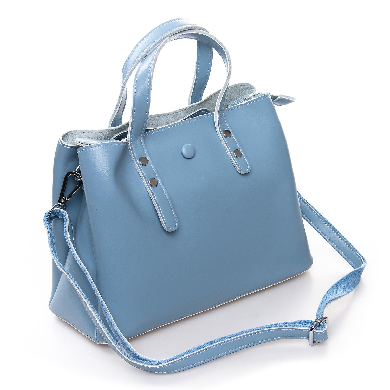 Сумка Женская Классическая кожа ALEX RAI 2-02 349 light-blue - фото 4