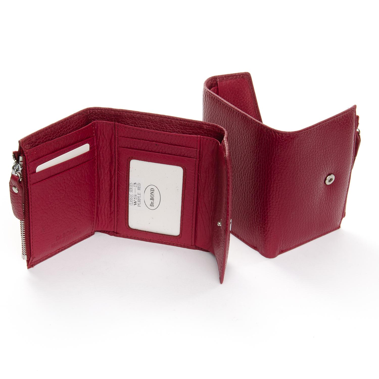 Кошелек Classic кожа DR. BOND WS-3 plum-red - фото 4